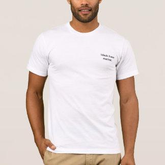 Camiseta negra de la materia de las vidas de los