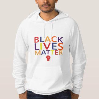 Camiseta negra de la protesta de la materia de las