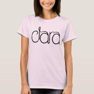 Camiseta negra de las señoras de Clara