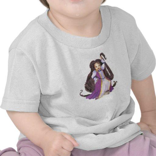 Camiseta negra de princesa Baby de Rapunzel