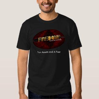 Camiseta negra de Snarky FireDome