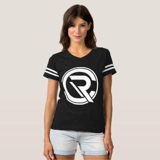 Camiseta negra del fútbol de las mujeres del CRC