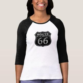 Camiseta NEGRA del RAGLÁN de la MUESTRA del GRUNGE