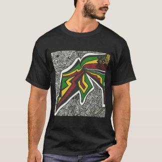 Camiseta negra del rasta