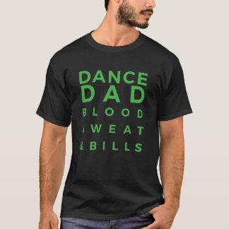 Camiseta negra y verde del papá de la danza