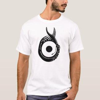 Camiseta Negro caliente del vinilo