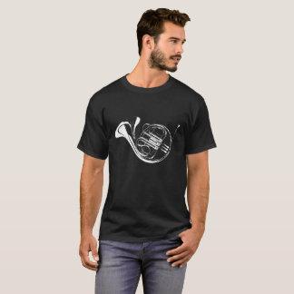 Camiseta Negro de la silueta de la trompa