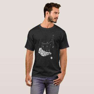 Camiseta Negro de la silueta de las gaitas