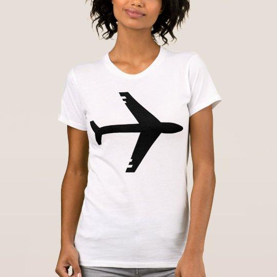 Camiseta Negro del aeroplano
