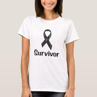 Camiseta Negro del superviviente del cáncer