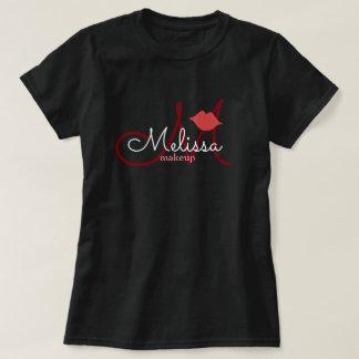 Camiseta negro del uniforme del nombre del salón del