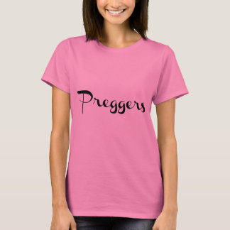 Camiseta Negro embarazado de la escritura