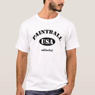 Camiseta Negro ilimitado de Paintball los E.E.U.U.