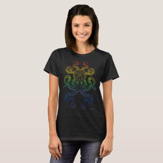 Camiseta Negro náutico del orgullo del arco iris del arte