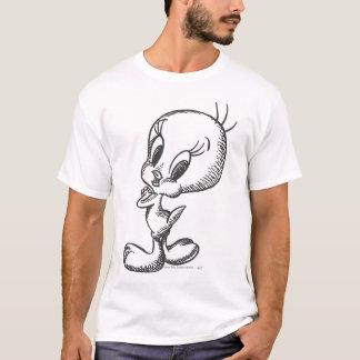 Camiseta Negro precioso/blanco de Tweety