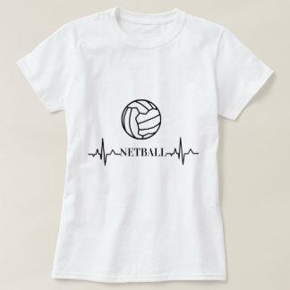 Camiseta Netball de encargo del tema del latido del corazón