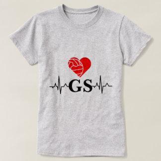 Camiseta Netball del amor del latido del corazón I de la