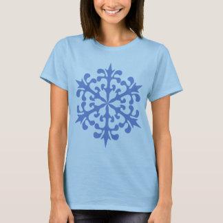 Camiseta Nieve del invierno del copo de nieve de los azules