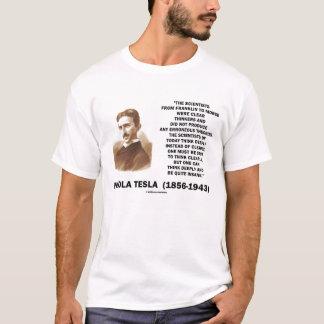 Camiseta Nikola Tesla piensa cita claramente sana