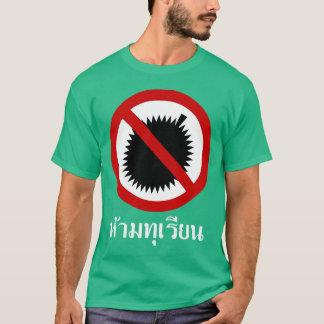 Camiseta NINGÚN ⚠ de la muestra de la escritura de la