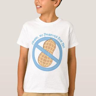 Camiseta Ningunos cacahuetes para mí alergia