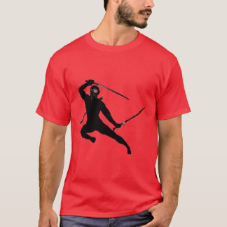 Camiseta Ninja negro en rojo