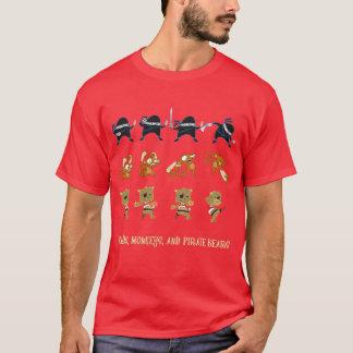 Camiseta Ninjas, monos, y osos del pirata