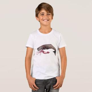 Camiseta niño cachalote y calamar gigante