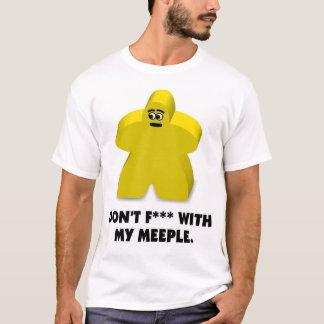 """Camiseta """"No ensucie"""" con mi meeple"""