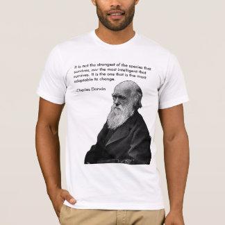 Camiseta No es el más fuerte…. - Charles Darwin