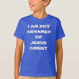 Camiseta no estoy avergonzado de Jesucristo