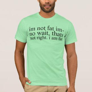 Camiseta no gordo