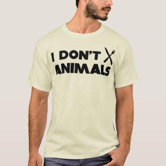 Camiseta no hago los animales del knifefork