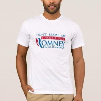Camiseta No me culpe que voté por Romney