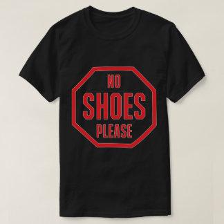 Camiseta No pare ningún zapato satisfacen rojo