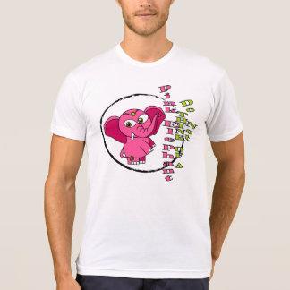 Camiseta No piense en un elefante rosado