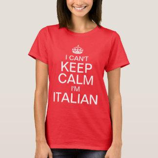 Camiseta No puedo guardar calma que soy italiano