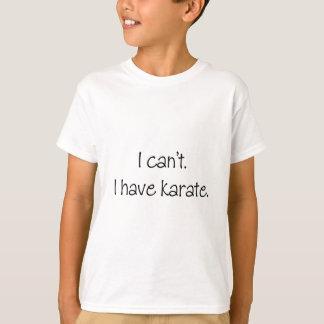 Camiseta No puedo. Tengo karate