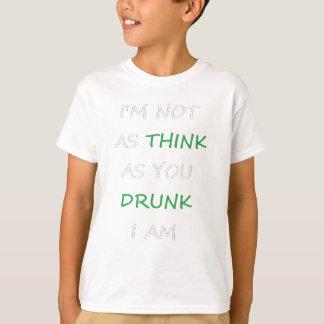 Camiseta No según lo bebido