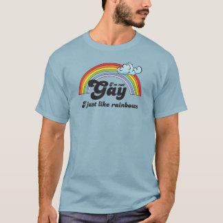 Camiseta No soy GAY. APENAS TENGO GUSTO DE LOS ARCO IRIS