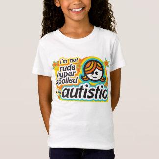 Camiseta No soy grosero… Soy autístico (girl2)