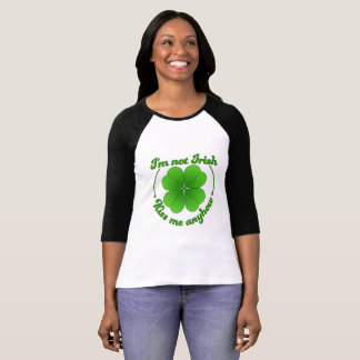 Camiseta No soy irlandés… Béseme de todos modos