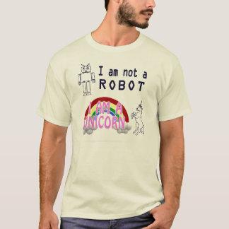 Camiseta No soy un robot, yo soy un unicornio