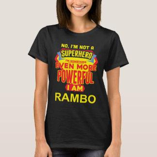 Camiseta No soy un super héroe. Soy RAMBO. Cumpleaños del