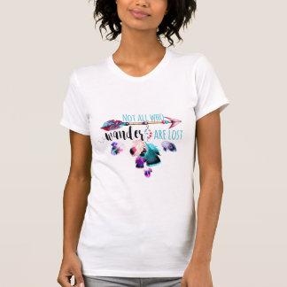 Camiseta No todos que Wander es Wanderlust bohemio perdido