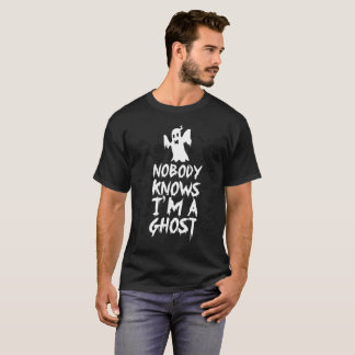 Camiseta Nobody Knows I'm A Ghost Funny Tshirt - Halloween
