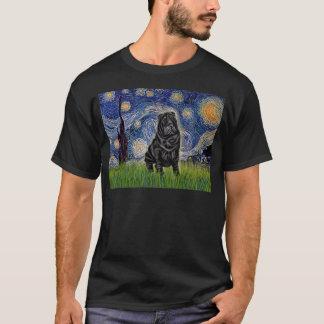 Camiseta Noche estrellada - chino negro Shar Pei