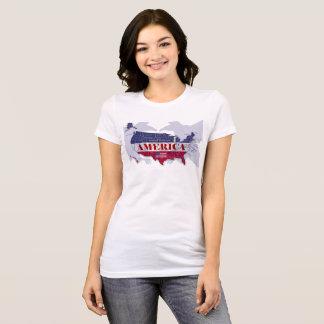 Camiseta nombrada de States Blue Eagle calvo de
