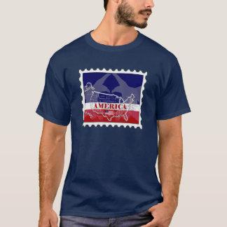 Camiseta nombrada del sello de States Eagle calvo