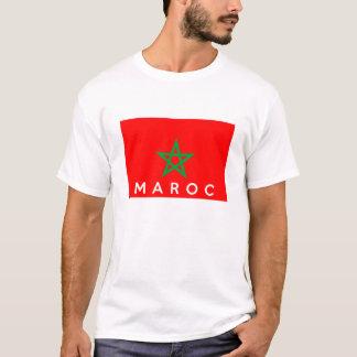 Camiseta nombre francés del texto del país de la bandera